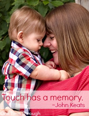 Touch Has a Memory John Keats Quote