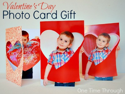 Valentines Day Photo Card Gift Trio