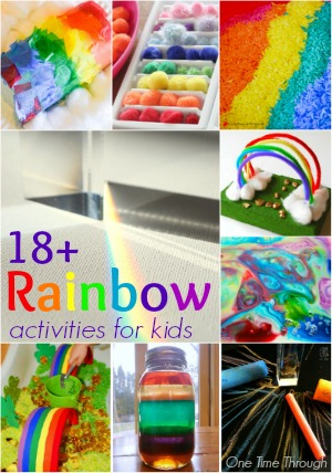 18+ Rainbow Activities for Kids
