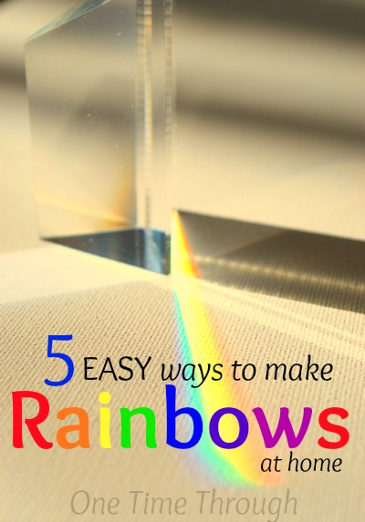 5 Easy Ways to Make Rainbows at Home