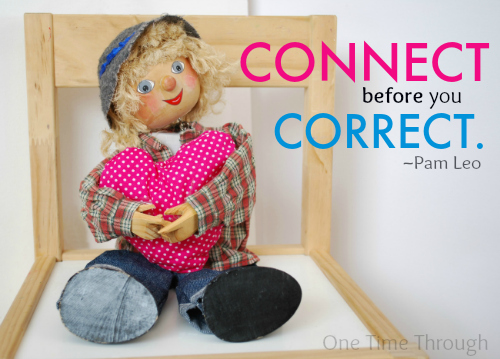Connect Before You Correct