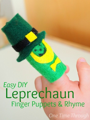 DIY Leprechaun Finger Puppets & Rhyme