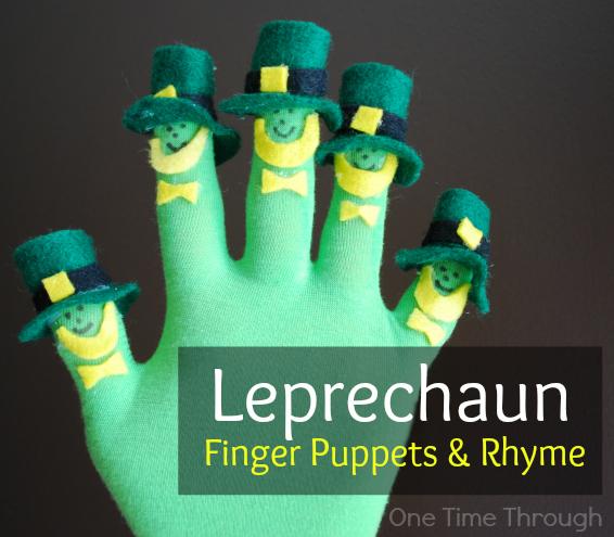 Leprechaun Finger Puppets & Rhyme