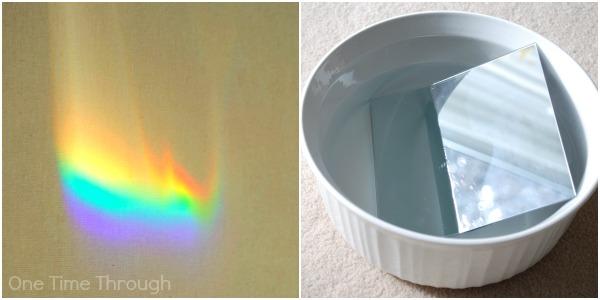 Mirrors in Water Make Rainbows