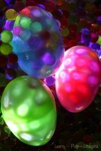 Glowing Plastic Easter Eggs