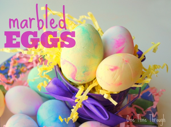 Marbled Foam Eggs Craft