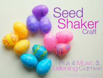 Seed Shaker Plastic Easter Eggs