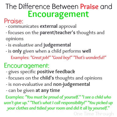 The Difference Between Praise and Encouragement