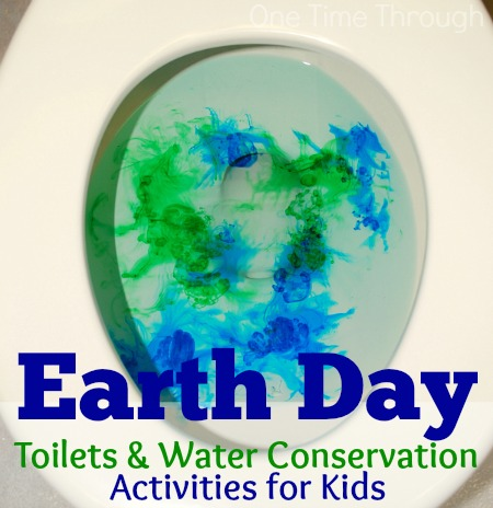 Earth Day Toilets and Water Conservation for Kids