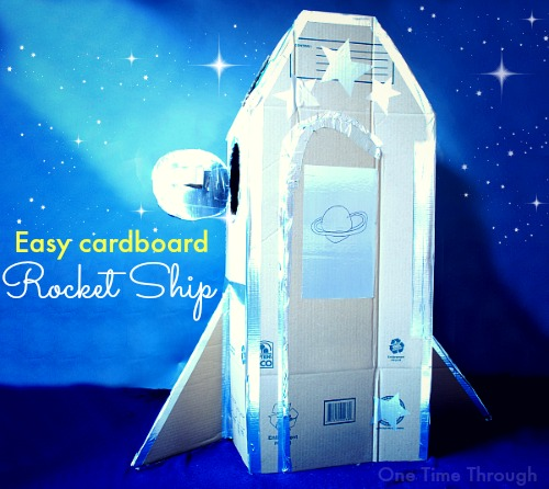 Easy DIY Cardboard Rocket Ship