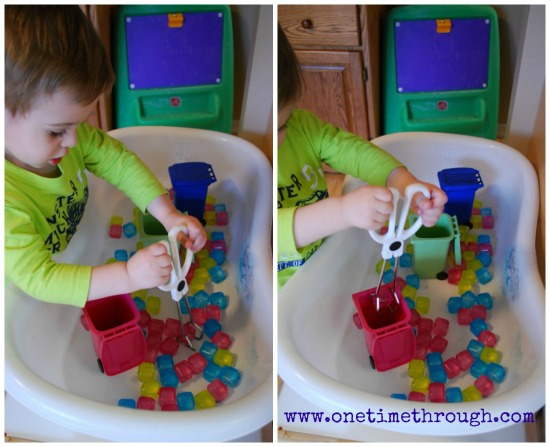 Sorting Cubes into Waste Bins