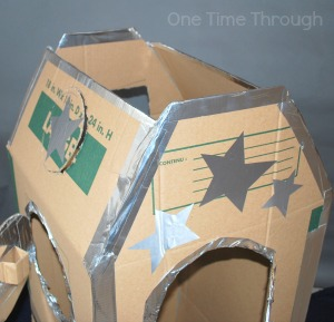 Top of Cardboard Rocket Ship