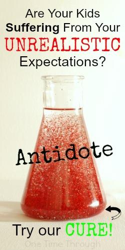 Unrealistic Expectations Pin Blog