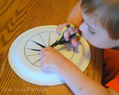 Cutting Frisbee