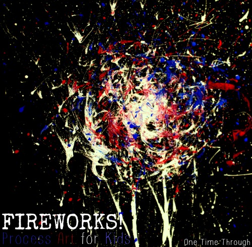 Memorial Day Fireworks Painting