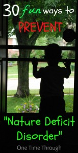 Nature Deficit Disorder in Kids