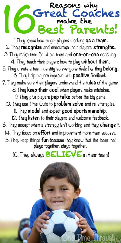 16 Reasons Why Great Coaches Make the Best Parents