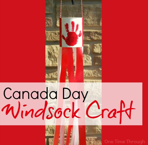 Canada Day Windsock Craft