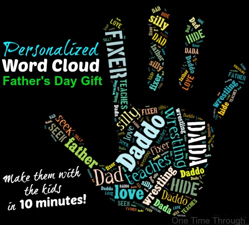 Personalized Word Cloud Fathers Day Gift