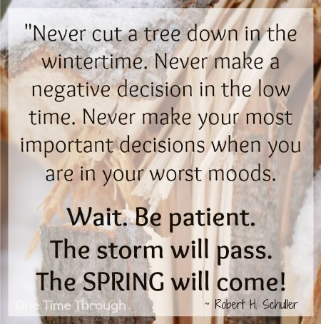 Image of: Life Robert Schuller Patience Quote One Time Through 25 Inspirational Quotes That Will Boost Your Parenting Patience