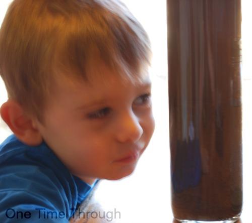 Shaken up soil discovery bottle