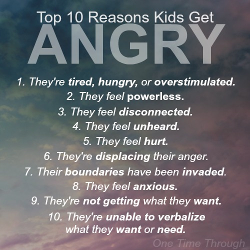 Top 10 Reasons Why Kids Get Angry