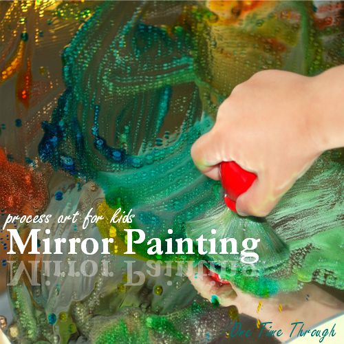 Mirror Painting Process Art for kids