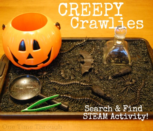Halloween Creepy Crawly Search and Find Activity