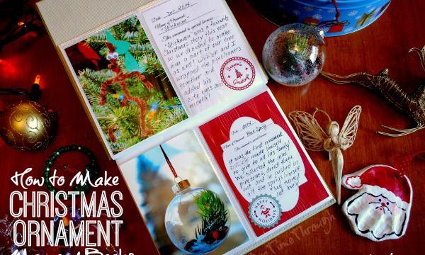 How to Make a Christmas Ornament Memory Book