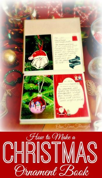 Christmas Ornament Memory Book Blog Pin
