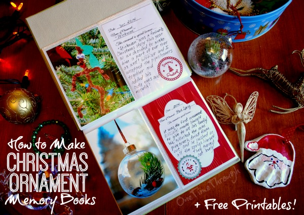 How to Make a Christmas Ornament Memory Book - One Time Through