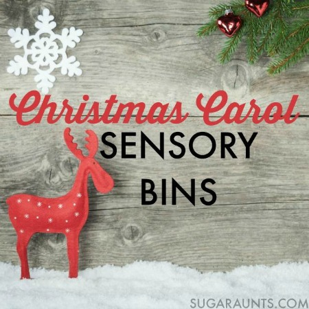Christmas Carol Sensory Bin Blog Hop