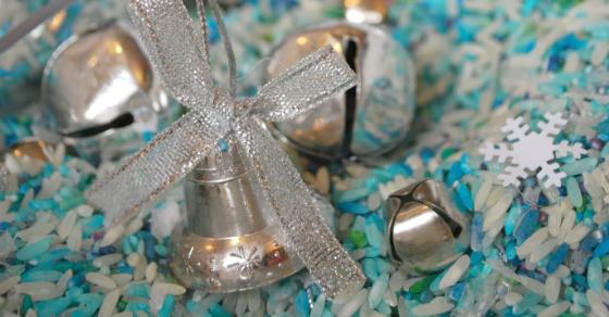 Silver Bells Sensory Bin FB