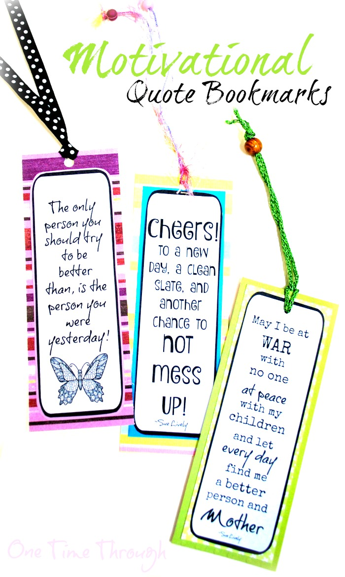 Motivational Parenting Quotes Bookmarks
