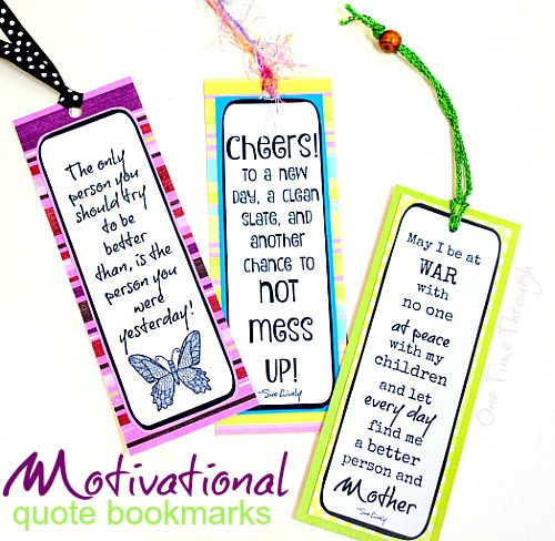 Motivational Quote Bookmarks for Parents