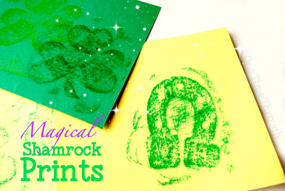 Magical Sandpaper Shamrock Prints