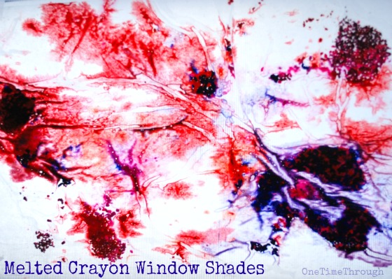 Melted Crayon Window Shade