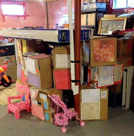 Cardboard Box Fort