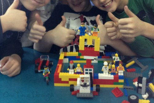 Kids proud of lego