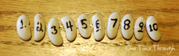 numbered beans