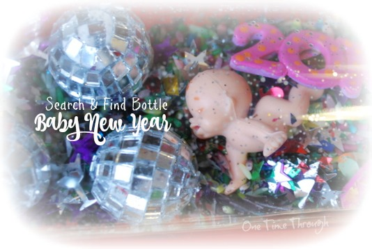 Baby New Year Search and Find Bottle