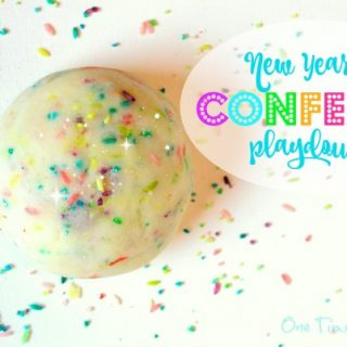 confetti playdough
