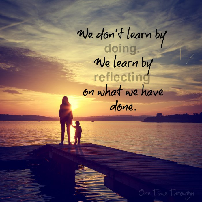 We don't learn by doing quote
