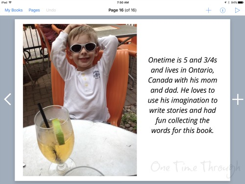 Author Page in Book Creator