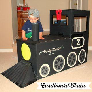 Cardboard Train
