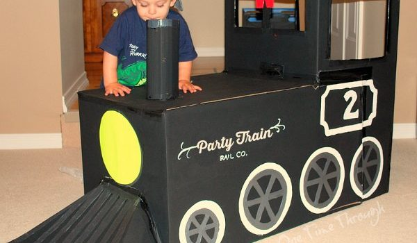 All Aboard! How to Make an Awesome Cardboard Train