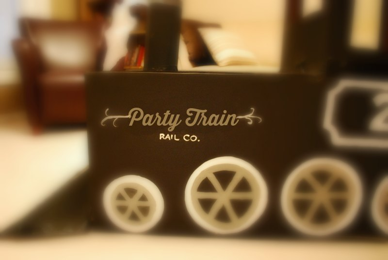 Train Birthday Party Cardboard Train