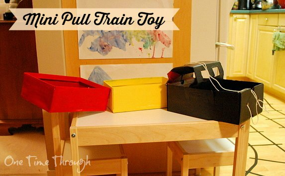 DIY Mini Pull Train Toy