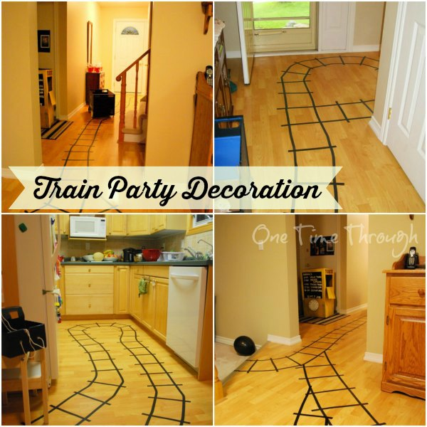 Train Tracks Party Decoration