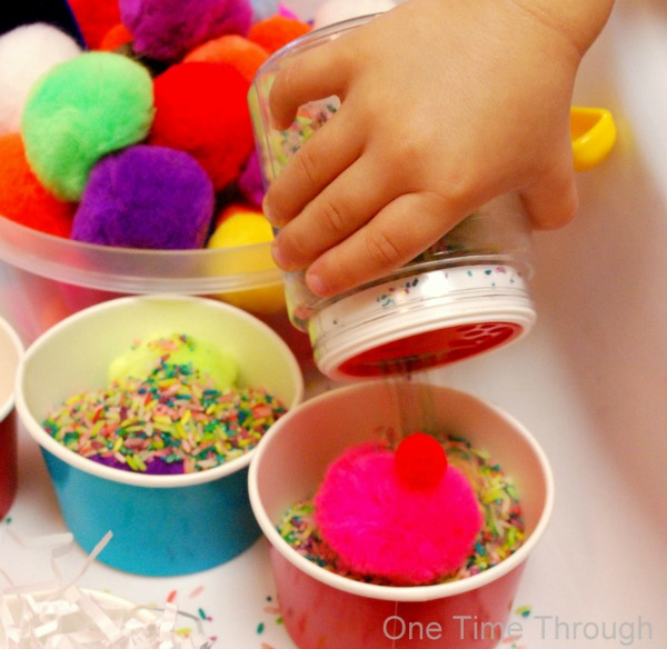 Pompom Ice Cream Shop Sensory Bin
